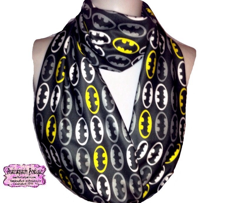 Batman Scarf Batman Infinity Scarf Knit Jersey Sci-Fi