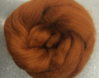 Toffee CORRIEDALE Wool Roving - 1 oz