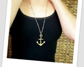 Large Anchor Necklace - Statement Necklace - Trendy Necklace - Sea Theme - Gift For Birthday - Anchor Jewelry - Nautical Necklace - Cruise