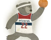 Basketball Bear - 8x10 Print