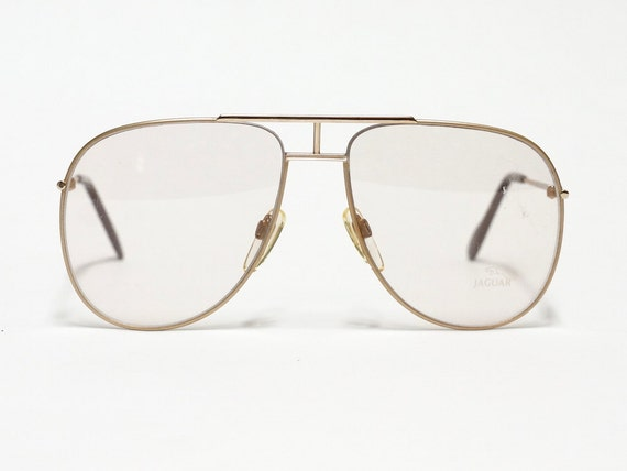 Jaguar Titanium Eyeglass Frames : Jaguar vintage eyeglasses model 327 1980s aviator glasses