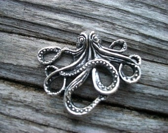 DESTASH Antique Silver Octopus Metal Pendant