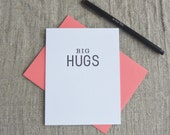 Letterpress Greeting Card  - Love and Friendship Card - Stuff My Friends Say - Big Hugs - STF-095