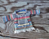 BEST SELLER dolly molly BAJA Mexican style shirt with collar fringe pocket ties for Blythe doll