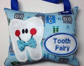 Tooth Fairy Pillow for BOYS Generic or Custom Order Personalize with Name