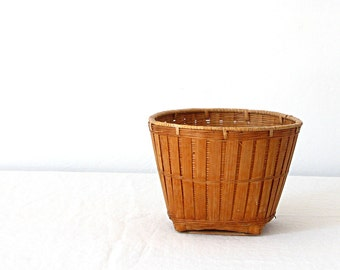 Vintage Chinese Woven Basket Small