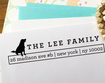 CUSTOM ADDRESS STAMP with proof from usa, Eco Friendly Self-Inking stamp, return address stamp, custom stamp, dog lover custom stamp dog1