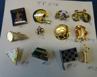 Choose your Vintage Sports football, pool, bike, soccer and more Tack Pin  TP 516