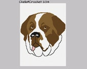 INSTANT DOWNLOAD Chella Crochet Pattern Saint Bernard Rescue Dog Afghan  Pattern Graph Chart. .PDF