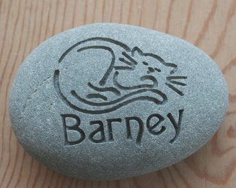 Cat Memorial Stone - Personalized Engraved Pet Memorial Stone