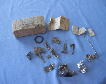 Vintage  Sewing Machine Parts ROTARY  ATTACHMENTS   12 Parts  Included