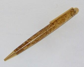 Handmade Euro Style Ballpoint Pen   Spalted Beech