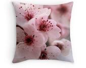 Limited Edition - Sakura (fleurs de Cerisier japonais photo de coussin housse de coussin, fleurs de printemps macro pastel blush floraison rose pâle)