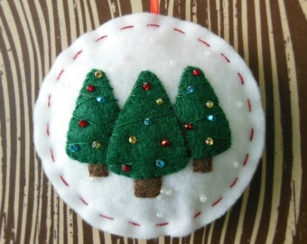 Holiday Forest - Felt Christmas Tree Ornament