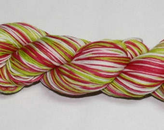 Holly Jolly Self Striping Hand Dyed Sock Yarn