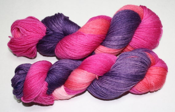 Rose Tyler Hand Dyed Sock Yarn