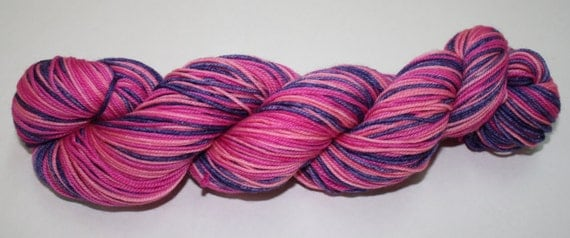 Rose Tyler Self Striping Hand Dyed Sock Yarn
