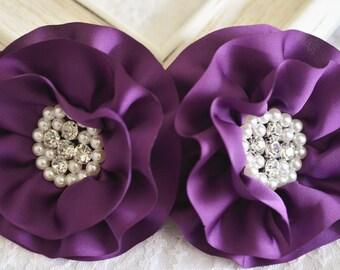 New! Handmade Silk flower--purple (FB1014)