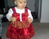 Sale   Baby Ruffled Christmas Dress and Boomers