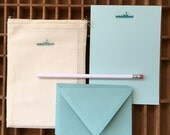 letterpress ship letter writing set