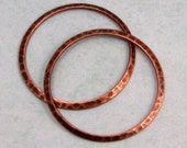 Large Hammered Ring, Antique Copper, 33 mm, 2 Pieces, AC174