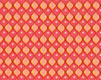 SALE 1 yard Hopscotch Coral Pink fabric