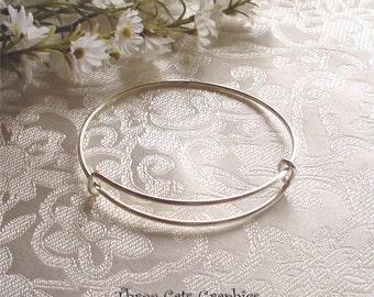 Expandable Stackable Bangle Charm Bracelet