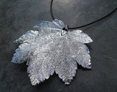 Real Leaf Pendant - Sterling Silver - Full Moon Maple
