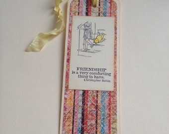 Handmade Vintage Inspired Classic Winnie The Pooh Bookmark - You Choose Style