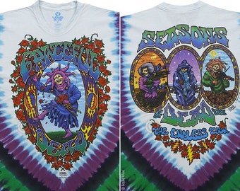 Grateful Dead  Seasons of the Dead Tie Dye Short Sleeve Shirt  Sizes Large  XXL   hippie SYF  deadhead