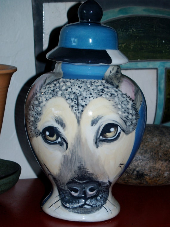 Custom PET URN for dogs German shepherd MEDIUM large