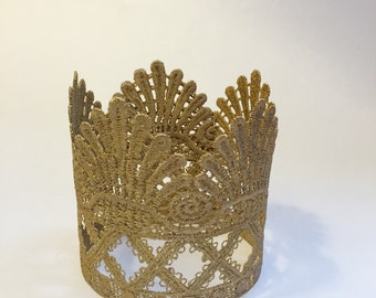 Gold Imperial Crown photo prop/cake topper