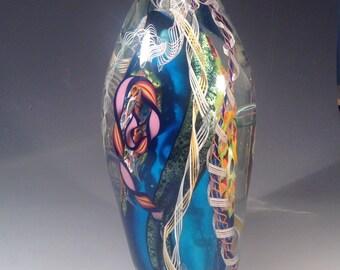 Dichroic Art Glass sculpture Mentuck FREE SHIPPING