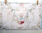 ROCOCO ROSE SWAG  linen tea towel