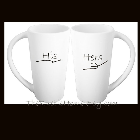 2 Custom pottery mugs gift set Mr. Mrs. His Hers Mine Yours personalized in your choice bride groom wedding gift anniversary pottery