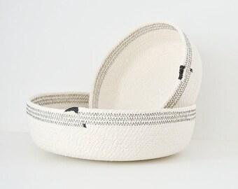 Cotton Rope Bowl, Modern Home Decor, Minimalist Decor, Coil Rope Bowl, Mediterranean Decor, Natural Cotton Rope, Housewarming Gift Rope bowl