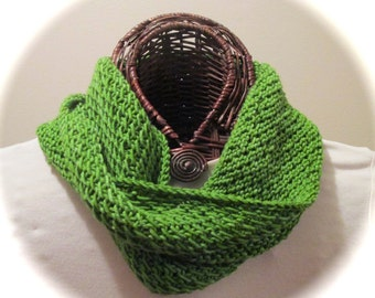 Hand-Knit Textured Moebius Ring