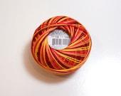 Lizbeth Size 10 Cotton Crochet Tatting Thread Falling Leaves Color number 100, Orange Crochet Thread