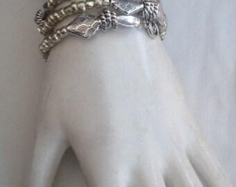 Pewter Swirly Girl Bracelet