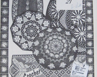 Crochet Doily Pattern Book by Elizabeth Hiddleson Volume 21