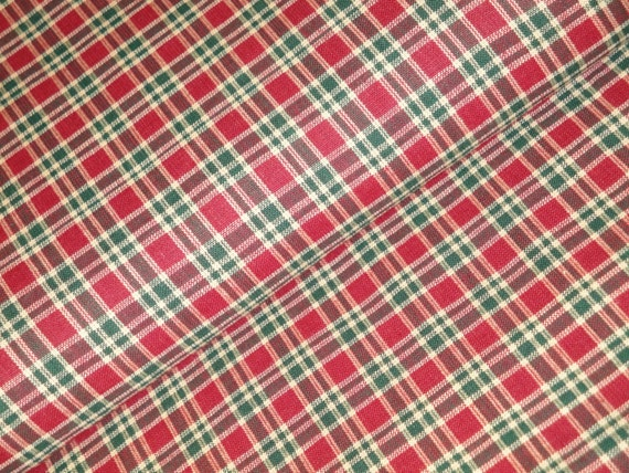 Holiday Plaid Fabric Cotton Plaid Fabric Quilt Fabric