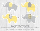 Yellow & Grey Elephant Cu...