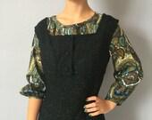 Vintage Wool Jumper Dress - Sound of Music - Costume Preppy - 1960s