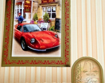 Mens Sports Car Card