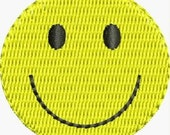 Mini smiley face embroidery designs 3 sizes