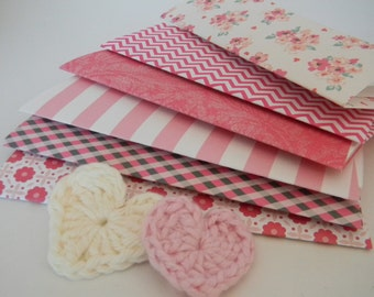 Love is in the air Handcrafted envelope set