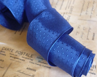 """5 yards of Wired Ribbon in Royal Blue with Textured Dots (1"""")"""