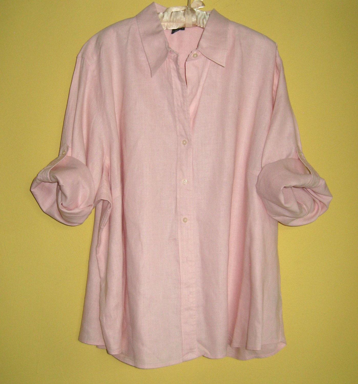 Blouse Linen Pink 90