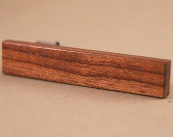 Tie Clip: African Bubinga Tie Bar tack