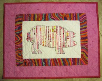 PIG Mini Selvage Quilt Collection from Quilts by Elena Wall Hanging Table Topper Selvages